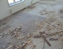 Bodenbelag entfernung - Pvc fliesen asbest ...