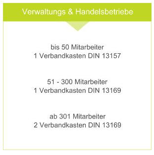 Verbandkasten Büro, DIN13157 / DIN13169